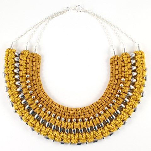 Chunky macramé collar necklace by SOLLIS Jewellery