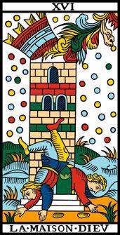 LA MAISON DIEU. La casa de Dios: Lo que estaba encerrado se abre, salir de los límites, salir de los límites mentales, salir de tod límite, abrirse.