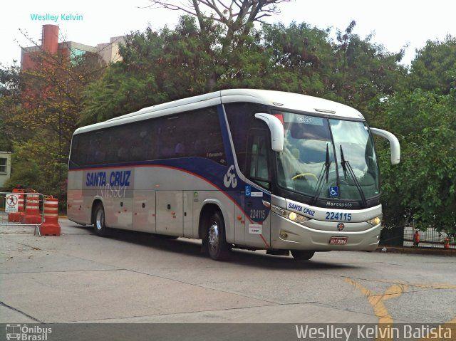 Ônibus da empresa Viação Santa Cruz, carro 224115, carroceria Marcopolo Paradiso G7 1050, chassi Scania K340. Foto na cidade de São Paulo-SP por Weslley Kelvin Batista, publicada em 04/11/2016 11:50:50.