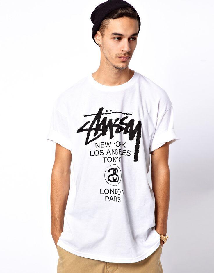 "T-shirt ""World tour"" - Stussy"