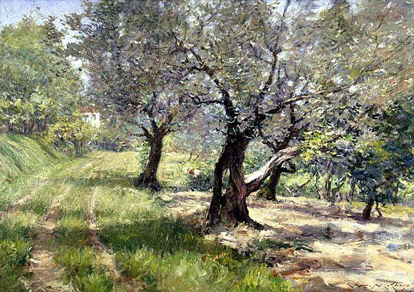 William Merritt Chase, The Olive Grove, c. 1910