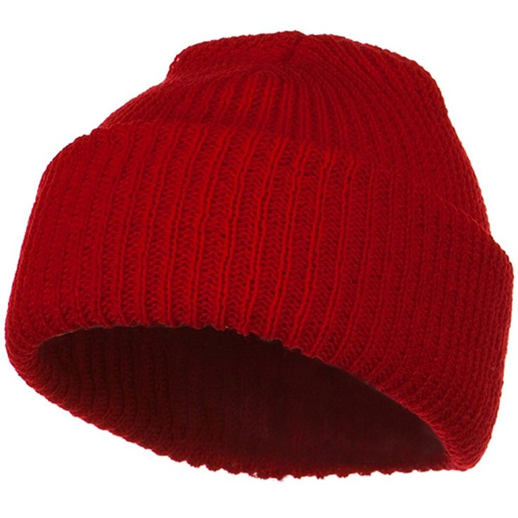 Solid Plain Watch Cap Beanie - Red at Amazon Men's Clothing store: Skull Caps
