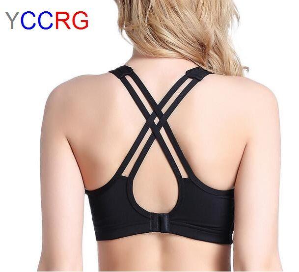 Brand YCCRG New Women Sports Bra Push Up Top Shockproof Professional beautiful Vest Fitness Running Vest Gym Brassiere soft bra