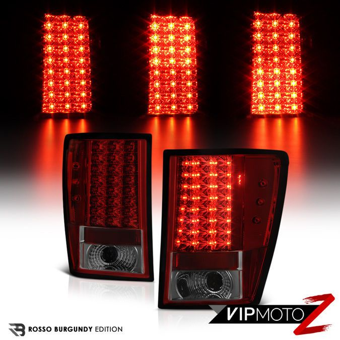 2005-06 Jeep Grand Cherokee SRT Red/Smoke LED Brake Signal Lamp Tail Light LH+RH #VIPMOTOZ