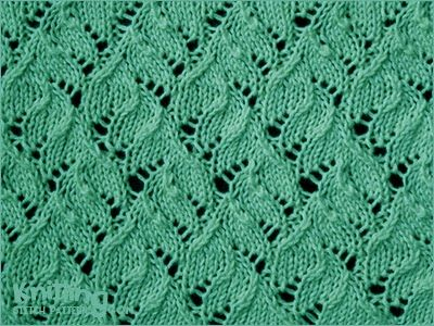 Chinese Lace . Knitting in the round. I would like to knit socks with this pattern!
