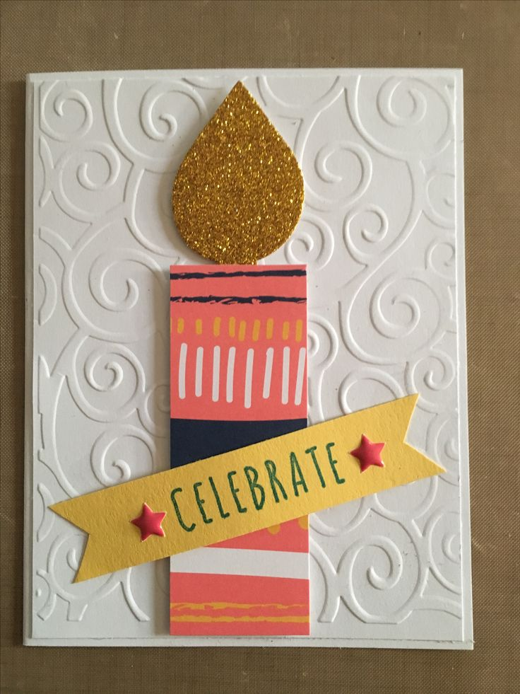 Simple and cure birthday card - Stampin Up Paper Pumpkin Feb 2017 alternative by Anne D.