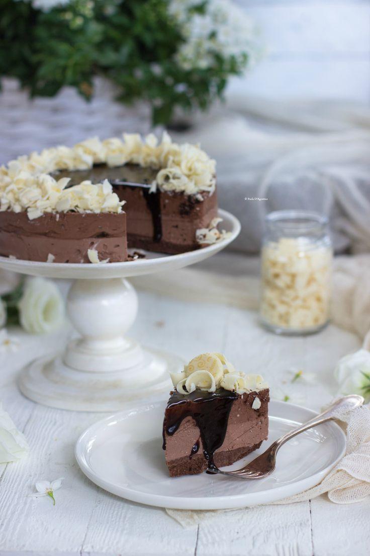 Cheesecake al cioccolato http://www.labottegadelledolcitradizioni.it/2016/06/cheesecake-cacao-e-biscokrok.html