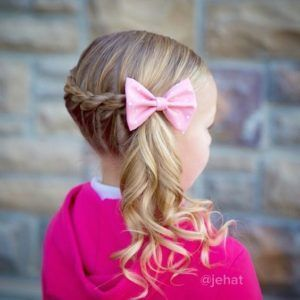 Super Cute Kids Hairstyles for Girls - mix.xpin.xyz | Kids hairstyles girls, Curly side ponytails