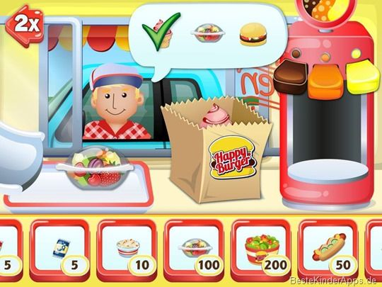 Drive In King Burgerrestaurant Spiel App Kinder iPad iPhone (39)