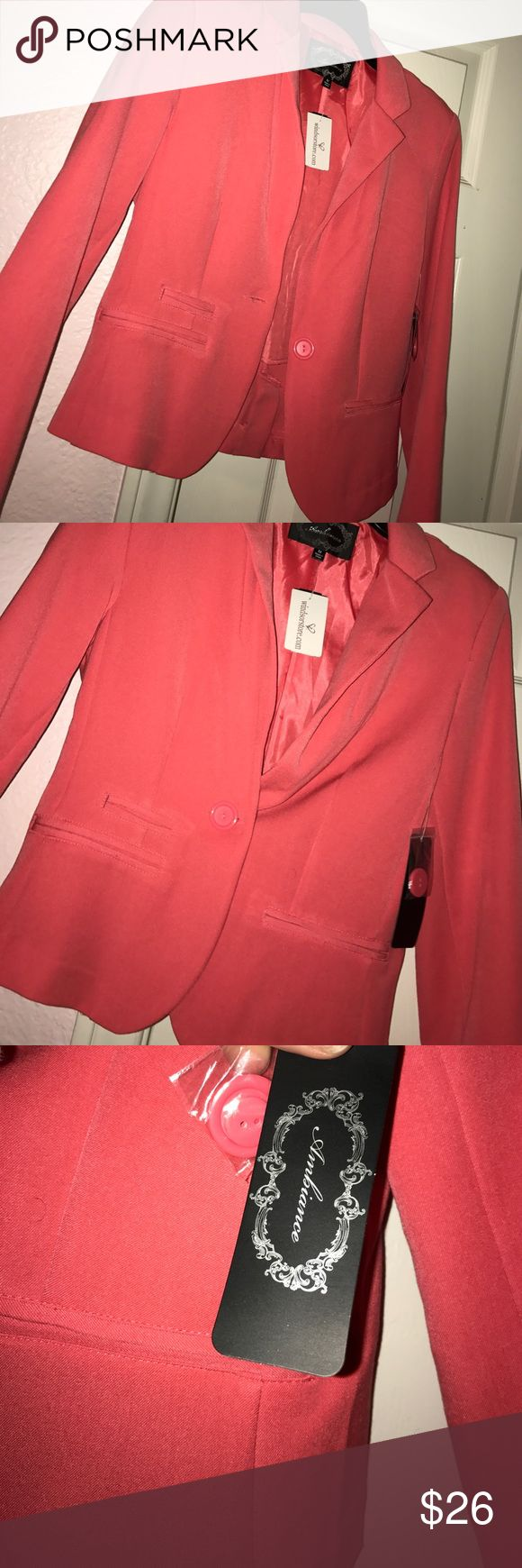 Pink blazer New with tag! Cute hot pink blazer and it's still very businesslike WINDSOR Jackets & Coats Blazers