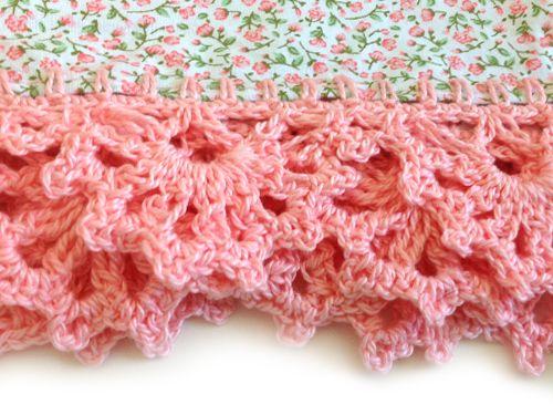 Crochet edging on tea towels