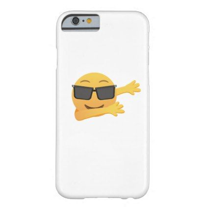 Dabbing Emoji  Funny Birthday Gift  Kids Men Women Barely There iPhone 6 Case - kids kid child gift idea diy personalize design