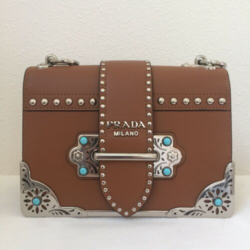 ff48b8c23a80 PRADA Cahier City Calf Studded Shoulder Bag $3.45k | Prada in 2019 ...