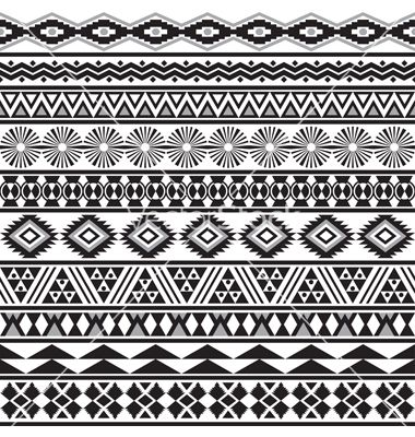 Tribal striped seamless pattern vector 1357848 - by Vodoleyka on VectorStock®