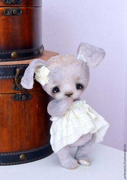 Violet)) - бледно-сиреневый,фиалка,Виола,зайка,зайчик,кролик,вискоза,опилки древесные