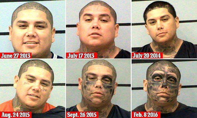 TEXAS... Tango Blast tattooed gang member sentenced | Daily Mail Online
