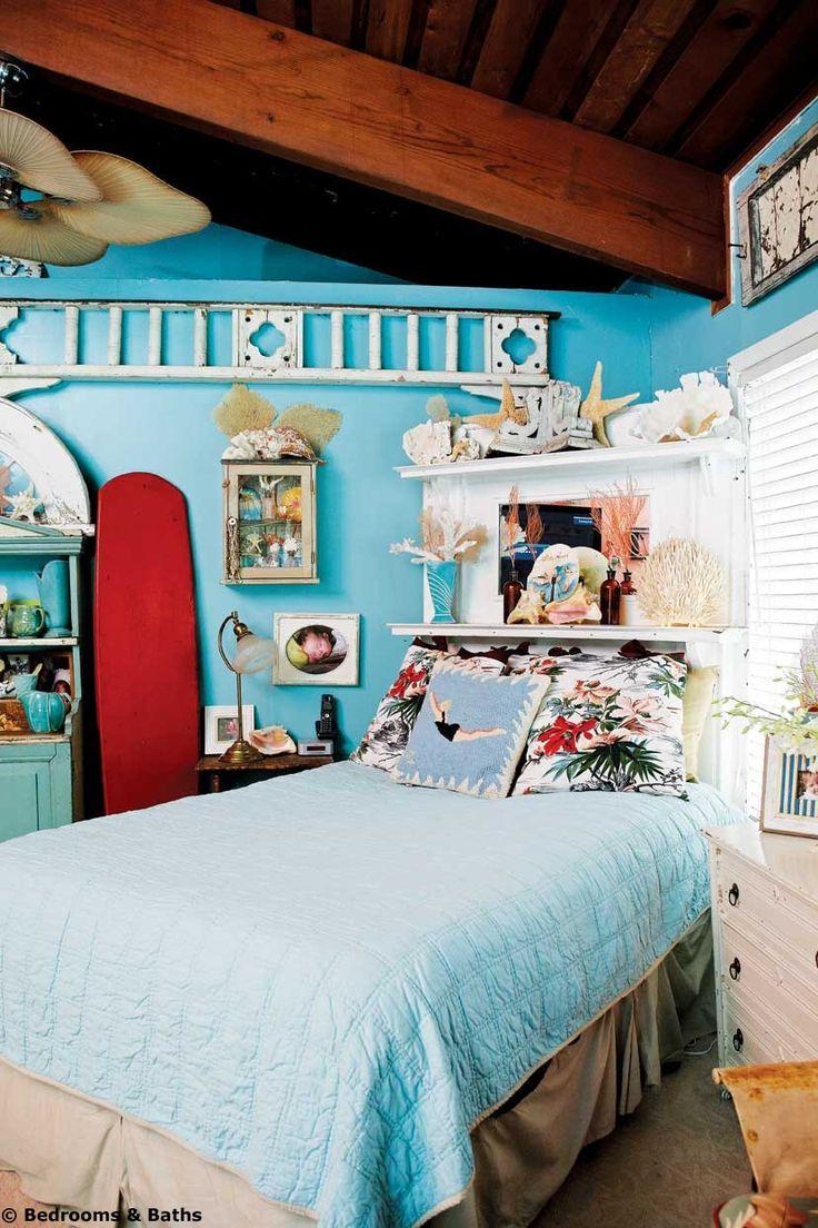 Retro beach cottage decor surf shack pinterest for Cottage bedroom decor