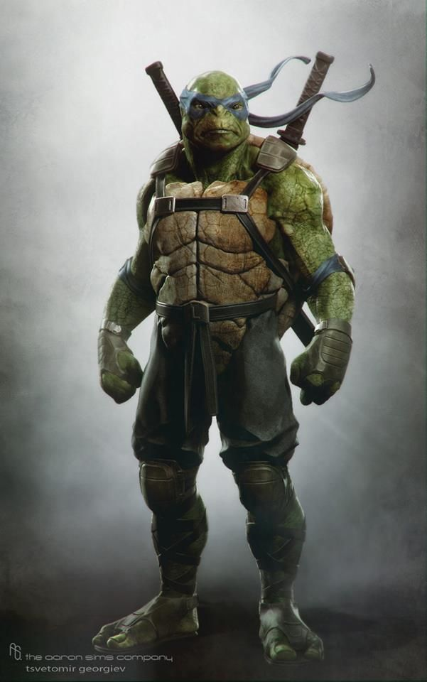 Concept art de Leonardo en Teenage Mutant Ninja Turtles (2014)