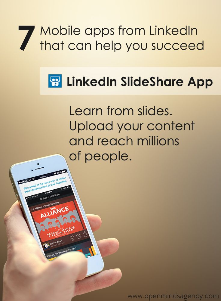 Use LinkedIn SlideShare App to learn from slides and upload your content to reach millions of people. Read our blog to know more: [Click on the image] #omagency #linkedIn #mobile