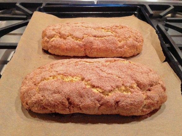 Snickerdoodle Biscotti~Needs cinnamon in the dough~