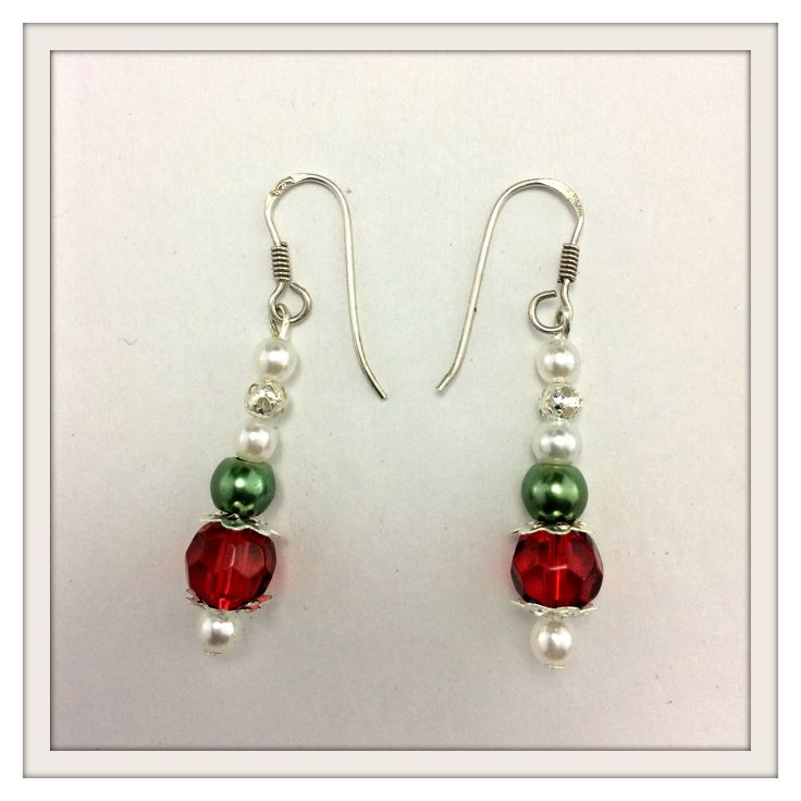 Beaded Winter Queen earrings perfect for the #christmas #bride or great Christmas #party #accessories www.bouquetsbylouise.co.uk/product/beaded-winter-queen-earrings