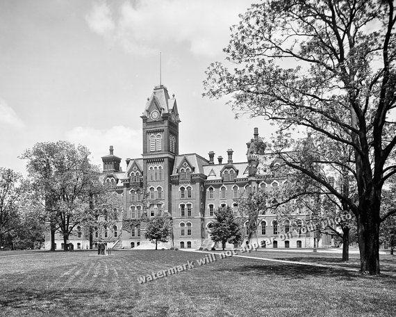 Vintage OHIO STATE UNIVERSITY (c.1900) - Campus Main Building - Reprint…