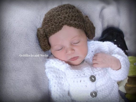 Princess Leia hat Princess Leia wig girl by GoldilocksandSocks
