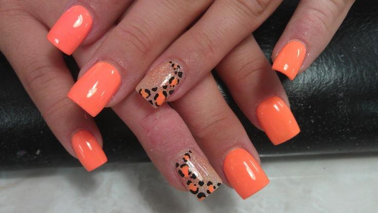 orange cream leopard cheetah style animal design orange