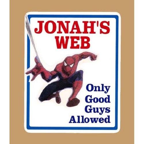 Spiderman Boys Bedroom Door Sign Personalized