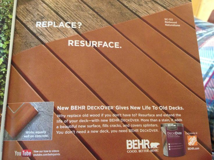 A friend needs this for her deck behr deckover for the for Behr deckover