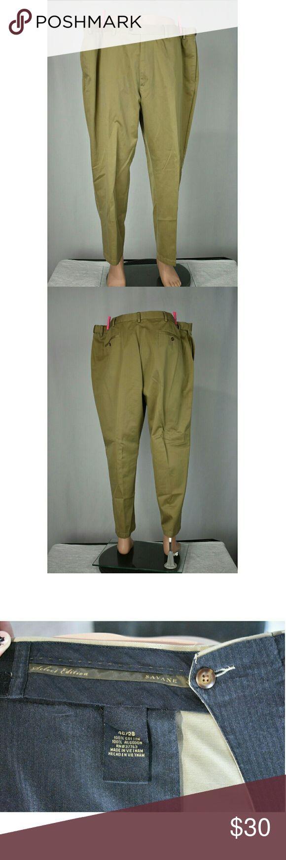 Big Men's Dress Pants 46/28 Brand                   : Savane  Size                      : 46/28 Style                     : Dress Pants Color                    : Tan  Inventory            : B56 Savane Pants Chinos & Khakis