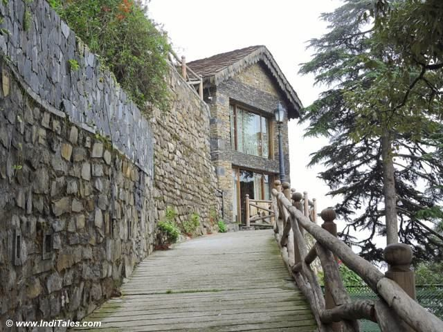 Charming old stone houses at Landour, Mussoorie                              …