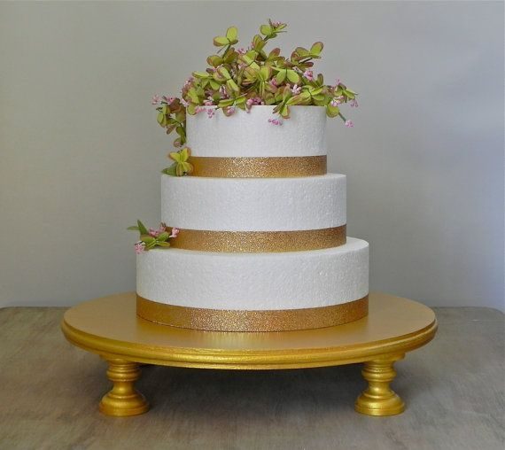 20 Cake Stand Round Cupcake Gold Metallic by EIsabellaDesigns, $105.00