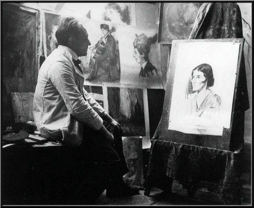 Henri Jonas in zijn atelier