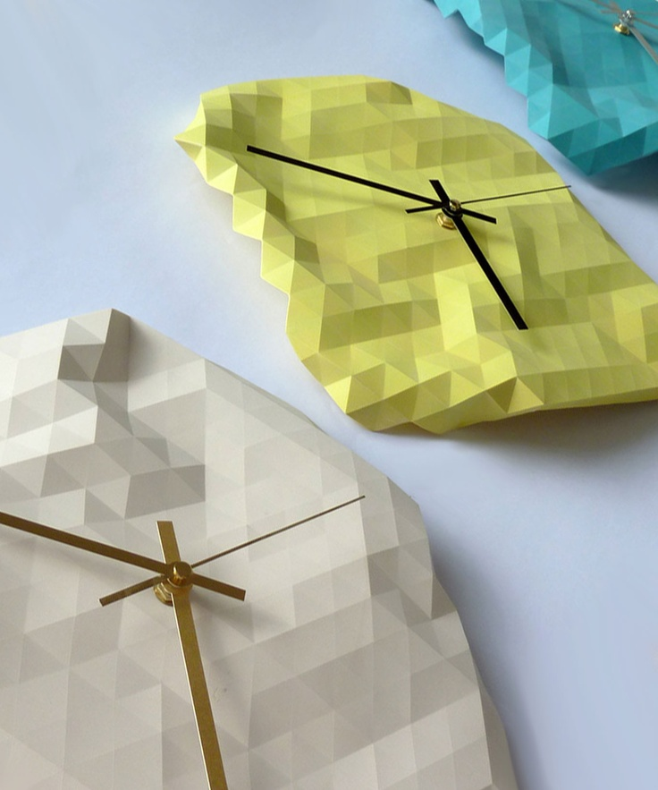 4-D Clocks #geometry #origami #RawDezign
