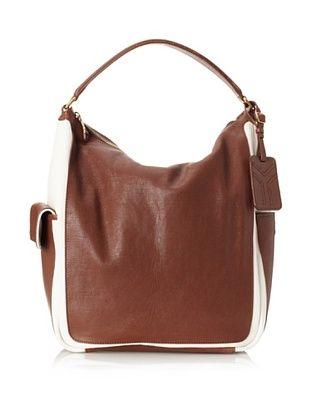 Yves Saint Laurent Women's Large Leather Top-Zip Tote, Brown