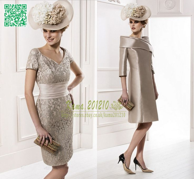 Champagne Mother Of The Bride Groom Outfits Lace Wedding Guest Plus Size Ebay