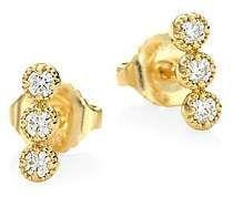 Hearts On Fire Women's Diamond & 18K Yellow Gold Earrings