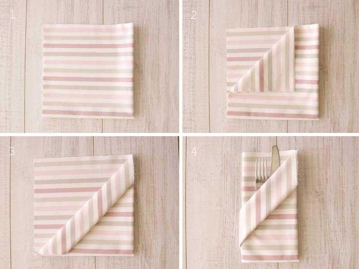 3 Ideas para doblar las servilletas de tus fiestas | Decorar tu casa es facilisimo.com