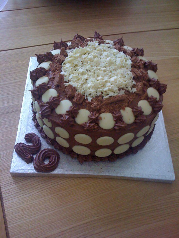 Milk and White Chocolate Cake