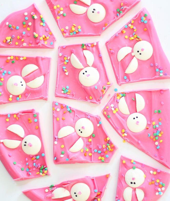 Easter Bunny Chocolate Bark.