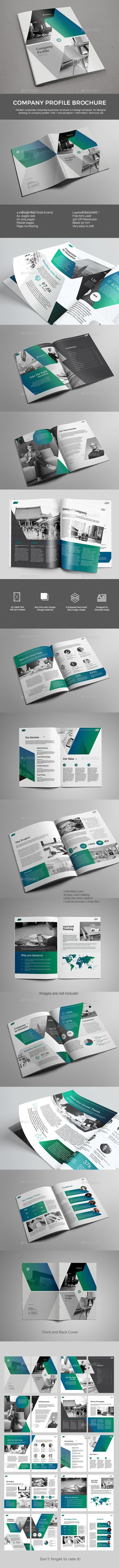 Company Profile — InDesign INDD #global #template • Available here → https://graphicriver.net/item/company-profile/19401862?ref=pxcr