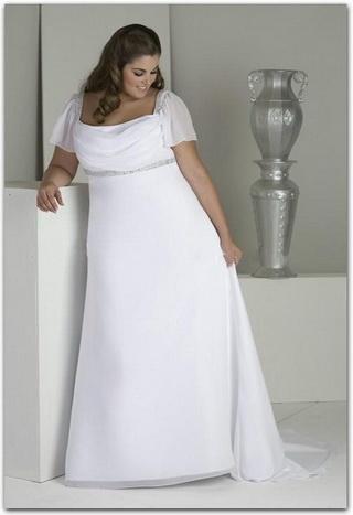 A Line Chiffon Cowl Neck Wedding Dress Style 20235050 170 99 Peridress