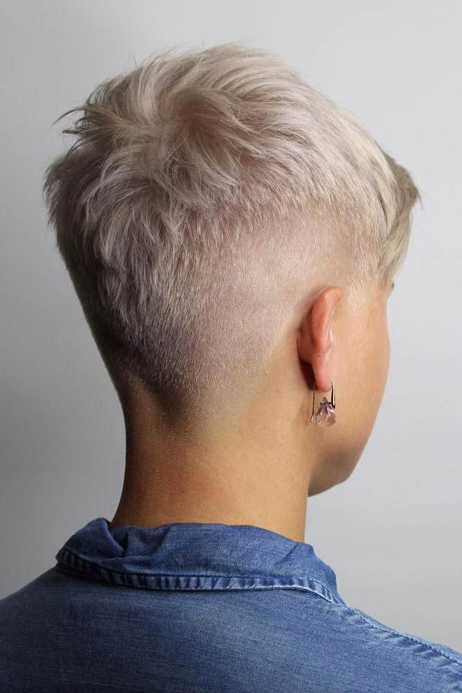 Blonde Super Short Fade Haircut #fadehaircut #haircuts #shorthaircuts ❤️A fade haircut, typically sported by men, is now very popular among women,...