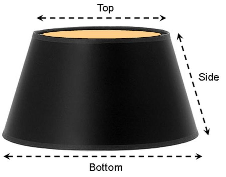 black paper floor lamp shade gold foil lining 13 x19 x11 fl. Black Bedroom Furniture Sets. Home Design Ideas