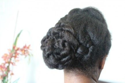 15 Ways To Wear An Inverted Braid.  Braided Side Twist Bun    This is a formal look that I created. Its my take on the classic, side chignon bun.  Photo Credit: Natural Hair Rules