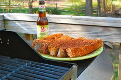 Seasoned country pork ribs awaiting the grill.