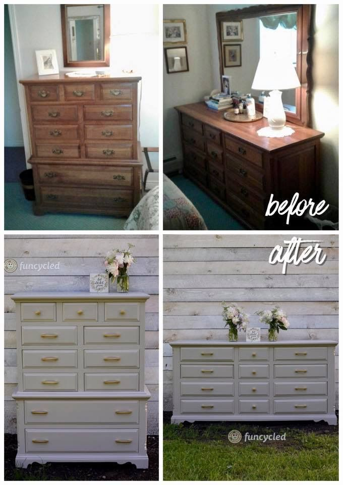 Gray Nursery Dresser Set Makeover by FunCycled http://funcycled.com/projects/gray-nursery-dresser-set-tuesdays-treasures/ #makeover #interiors #funcycled #repurposedfurniture #paintedfurniture #dressers #grayfurniture