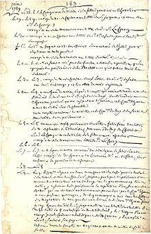 Journal of Antoine-Jérôme de Losme, the Bastille major, describing the days before the fall of the Bastille in 1789