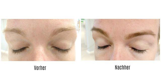 Beauty Mama mit Augenbrauen zupfen durch Faden-Technik von Twinkle Brow Bar.